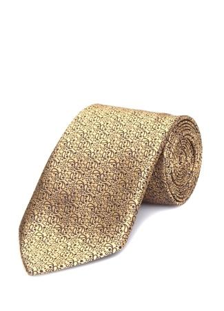 Ermenegildo Zegna Erkek Gold Mikro Desenli İpek Kravat I (IALY) Ürün Resmi