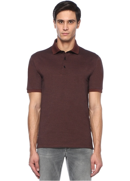 Kahverengi Petek Dokulu T-shirt