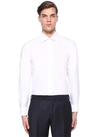Ermenegildo Zegna Erkek rofeo Fit Beyaz İngiliz Yaka Gömlek 42 I (IALY) Ürün Resmi