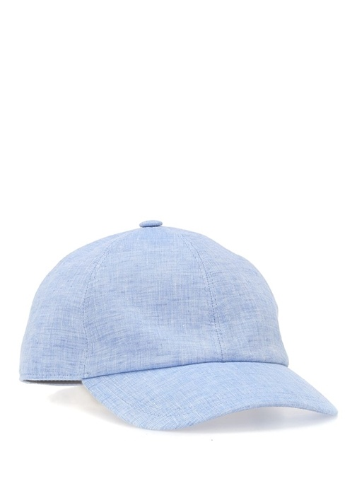 Mavi Erkek Keten Şapka