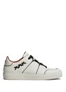 Beyaz Çizgi Detaylı Erkek Deri Sneaker