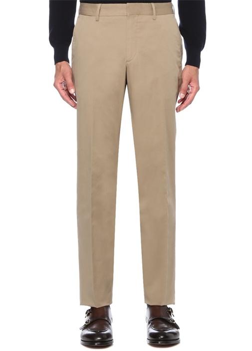 Regular Fit Bej Normal Bel Kanvas Pantolon