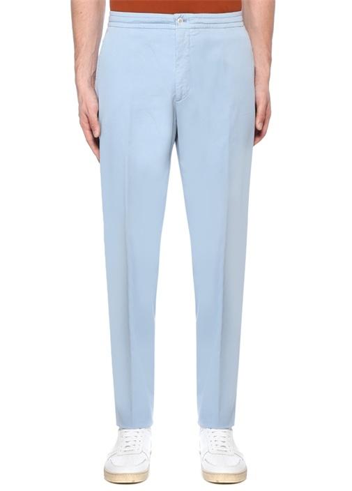 Mavi Fermuar Kapatmalı Boru Paça Pantolon