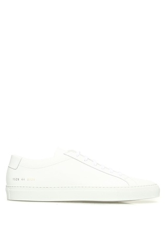 Common Projects Erkek Beyaz Deri Sneaker 43 EU male