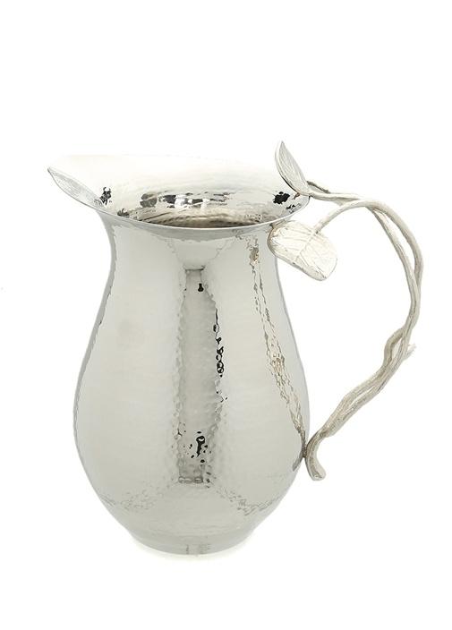 Silver Kulbu Yaprak İşlemeli Çelik Sürahi