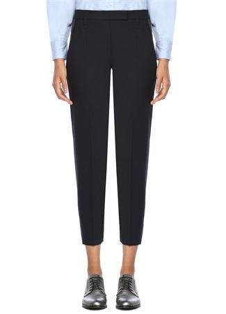 Brunello Cucinelli Kadın Lacivert Zincir Detaylı Cigarette Yün Pantolon 40 I (IALY) Ürün Resmi