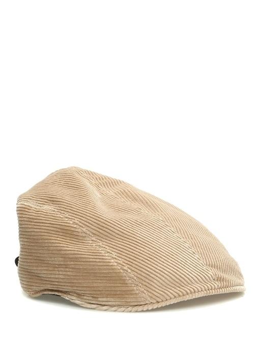 Kamel Kemer Kapatmalı Çizgi Dokulu Erkek Şapka