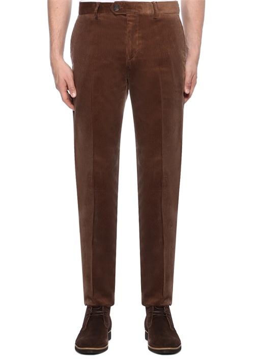 Traditional Fit Kahverengi Kadife Pantolon