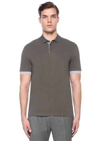 Brunello Cucinelli Erkek Haki Polo Yaka Garni Detaylı -shirt Yeşil 56 I (IALY) Ürün Resmi