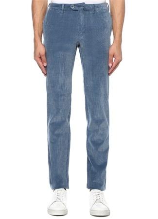 Isaia Erkek Slim Fit Mavi Kadife Pantolon 48 I (IALY) Ürün Resmi