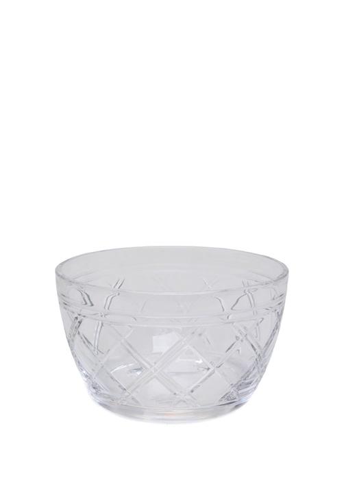 Brogan Şeffaf Desenli Kristal Kase