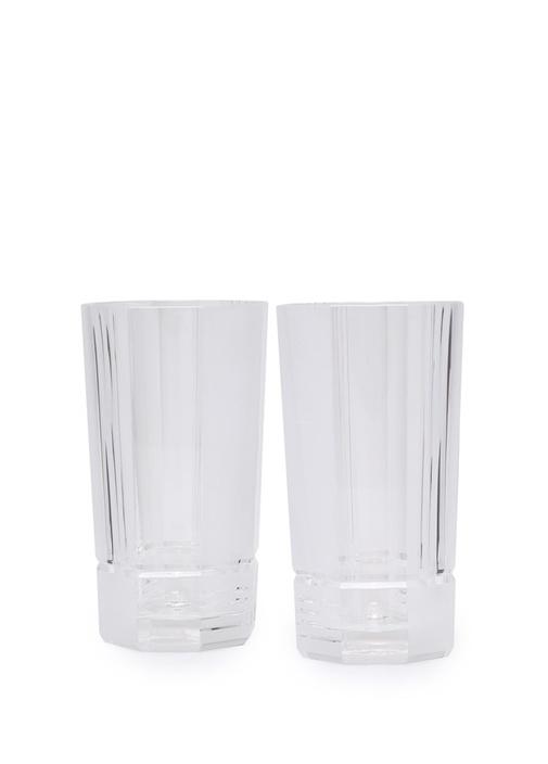 Şeffaf 2li Kristal Meşrubat Bardağı