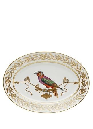 Richard Ginori Voliere Motifli Kuş Baskılı Porselen Servis Tabağı