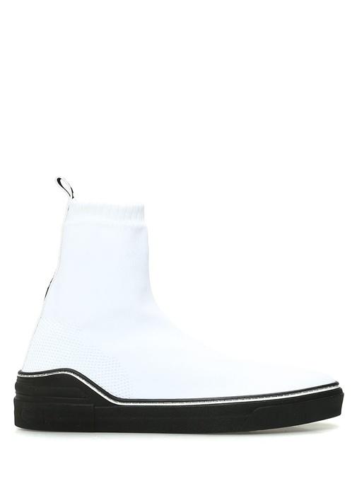 George V Beyaz Logolu Çorap Formlu Erkek Sneaker