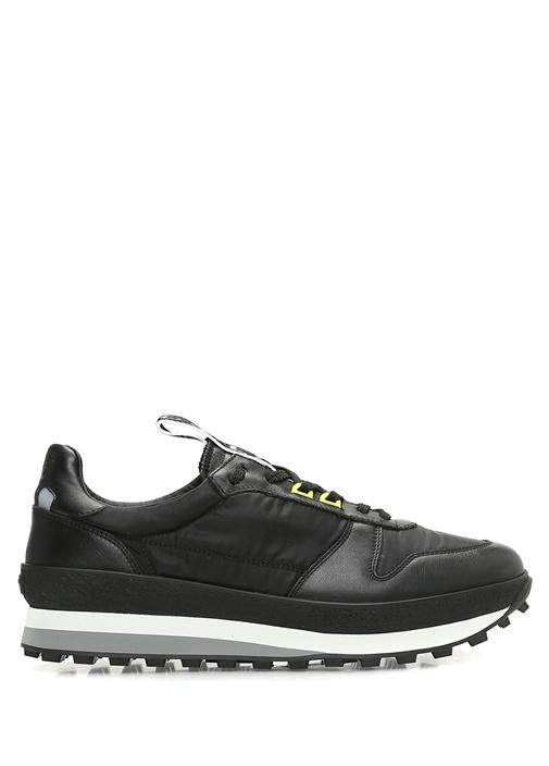 Givenchy Siyah ERKEK  Siyah Logolu Erkek Deri Sneaker 521016 Beymen