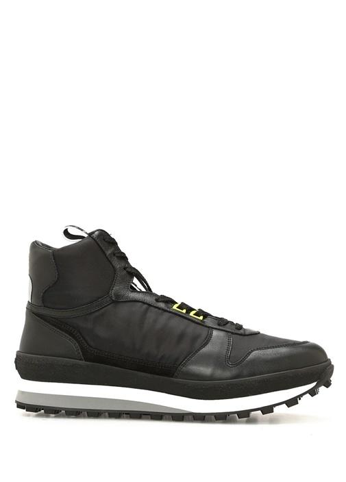 Givenchy Siyah ERKEK  Runner Siyah Logolu Bilekli Erkek Deri Sneaker 520953 Beymen