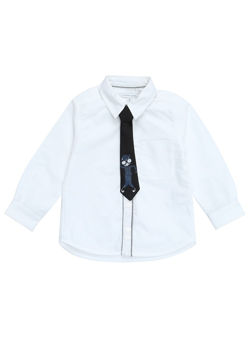 Beyaz Kravatlı İngiliz Yaka Erkek ÇocukGömlek