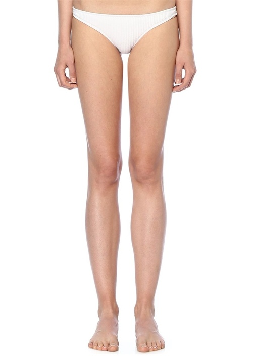 Coral Beyaz Ribli Bikini Altı