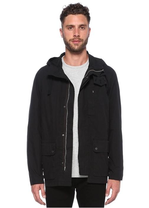 Umaro Siyah Kapüşonlu Ceket