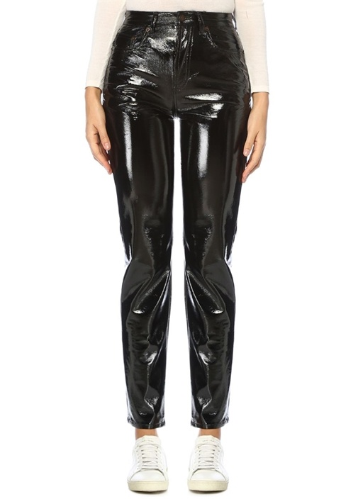 Saınt Laurent Siyah Yüksek Bel Dar Paça Pantolon – 3199.0 TL