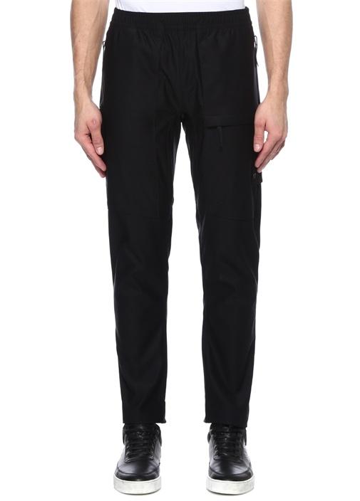 Siyah Ağ Detaylı 5 Cepli Pantolon