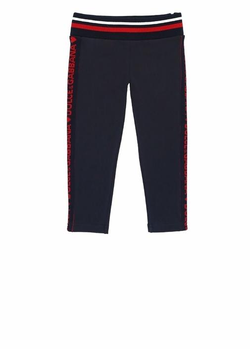 Lacivert Kırmızı Logo Şeritli Kız ÇocukPantolon