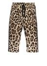 Kahverengi Leopar Desenli Kız Çocuk Pantolon