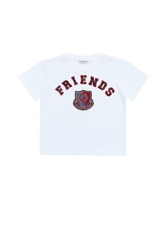 2 Yaş unisex Beyaz Dolce&Gabbana Erkek Çocuk Patchli T-shirt EU