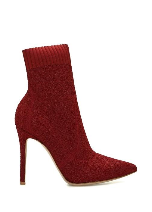 Fiona Bordo Çorap Formlu Kadın Bot