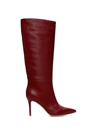 Willow Bordo Kadın Deri Çizme