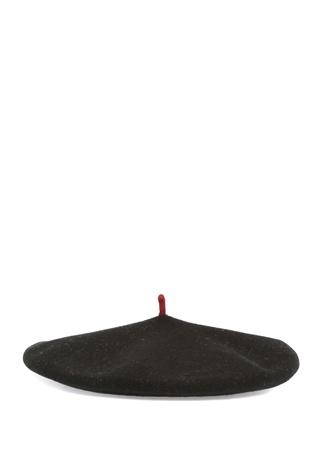 Le Beret Kadın Siyah Yün Şapka EU female Standart
