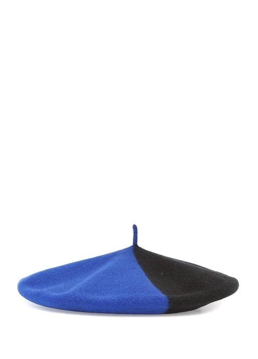 Siyah Lacivert Kadın Yün Şapka