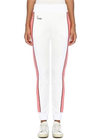 Fendi Kadın Beyaz Şeritli Arka Cebi Baskı Detaylı Pantolon 40 I (IALY) Ürün Resmi