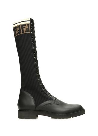 Fendi Kadın Siyah Çorap Formlu Deri Çizme 4 EU