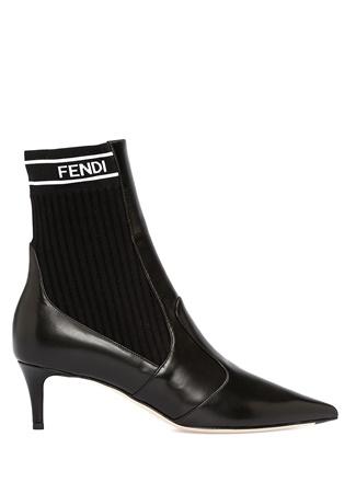 Fendi Kadın Siyah Çorap Formlu Deri Bot 38 EU