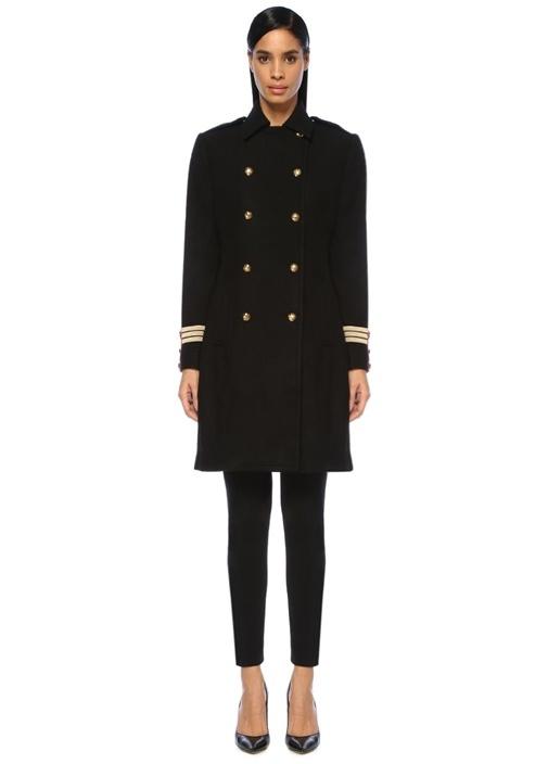 Lauren Ralph Lauren Siyah İngiliz Yaka Yün Palto – 2449.0 TL