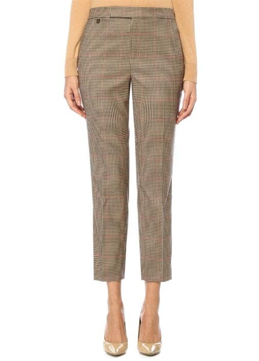 Lauren Ralph Lauren Bej Kazayağı Desenli Cigarette Pantolon – 529.0 TL