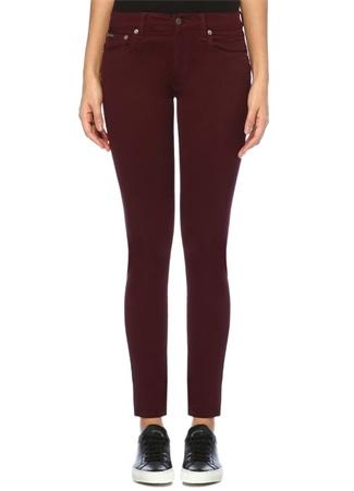 Polo Ralph Lauren Kadın ompkins Bordo Normal Bel Skinny Jean Pantolon 26 US Ürün Resmi