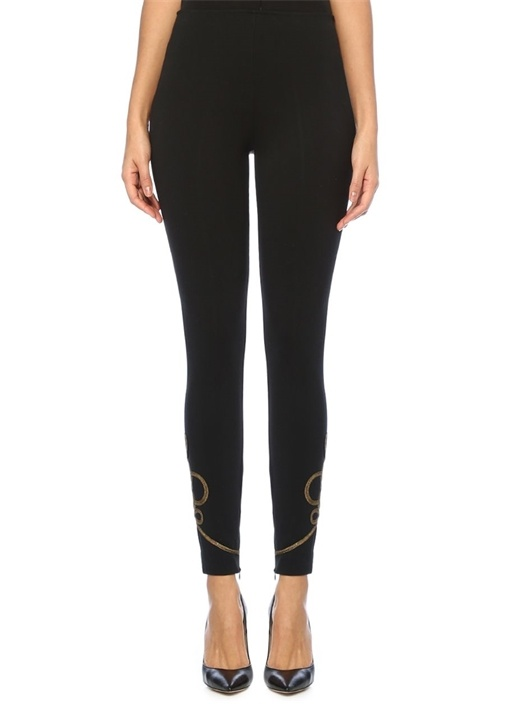 Polo Ralph Lauren Siyah Gold Paçası Nakışlı Streç Pantolon – 499.0 TL