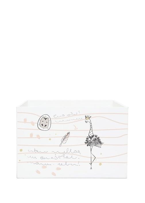 Beyaz Desenli Çocuk Küçük Ahşap OyuncakSepeti