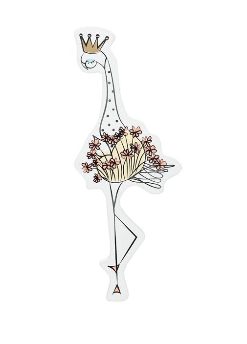 Beyaz Flamingo Formlu Unisex Çocuk Ahşap Lamba