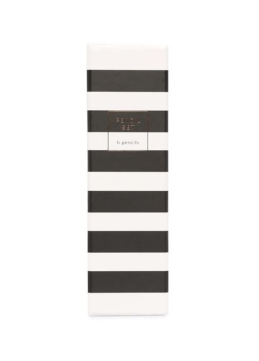 6lı Çizgili Monochrome Kalem Seti