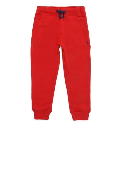 Kırmızı Logo Nakışlı Erkek Çocuk Eşofman Altı