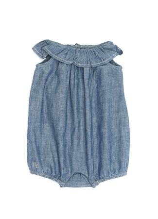 ea6110f72fe58 Polo Ralph Lauren Kız Bebek Mavi Kayık Yaka Fırfırlı Tulum 12 Ay EU. Beymen  > Tulum