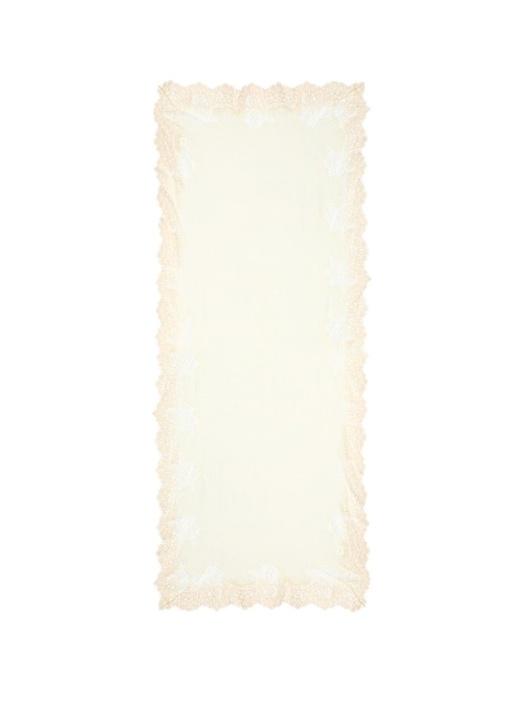 Pembe Dantel Aplikeli 70x180 cm Kadın Yün Şal
