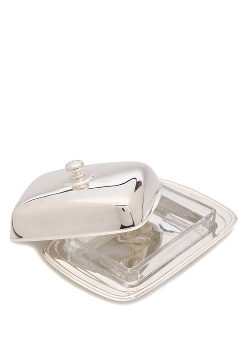 Silver Dikdörtgen Formlu Kapaklı Tereyağlık