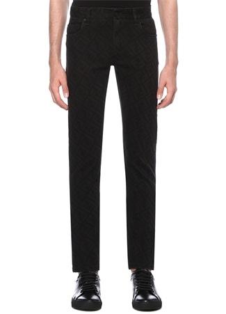 Fendi Erkek Slim Fit Siyah Logolu Dar Paça Jean Pantolon 34 I (IALY) Ürün Resmi