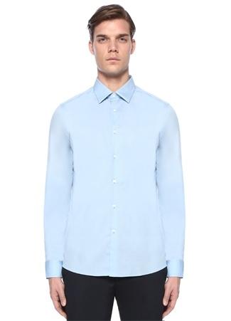Fendi Erkek Mavi İngiliz Yaka Düğme Kapatmalı Gömlek 39 I (IALY) Ürün Resmi