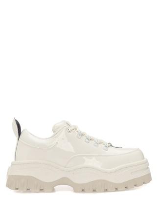 Eytys Kadın Angel Beyaz Rugan Sneaker 4 EU