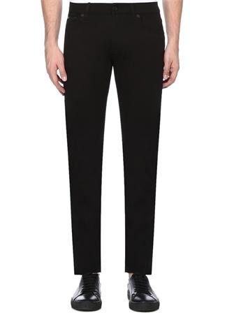 Stretch Fit Siyah Normal Bel Dar Paça Jean